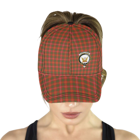 Image of Carruthers (Bruce Modern) Clan Badge Tartan Dad Cap - BN03