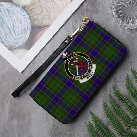Image of ADAM TARTAN CLAN BADGE ZIPPER WALLET HJ4