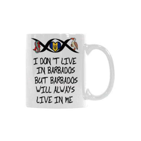 Barbados Will Always Live In Me White Mug - BN01
