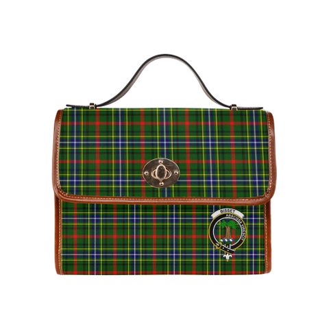 Tartan Canvas Bag - Bisset Clan | Waterproof Bag | Scottish Bag