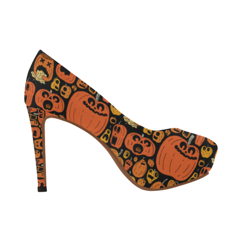 Pumpkin Halloween Women's High Heel - Bn04 |Footwear| 1sttheworld