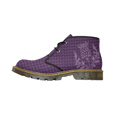 Scotland Nubuck Chukka Boots - Scottish Thistle Purple Edition A7