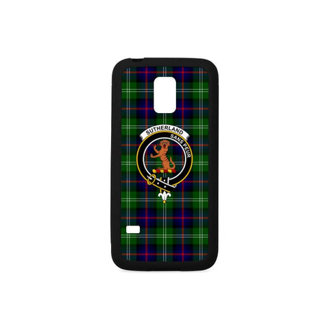 Image of Sutherland I Tartan Clan Badge Rubber Phone Case HJ4