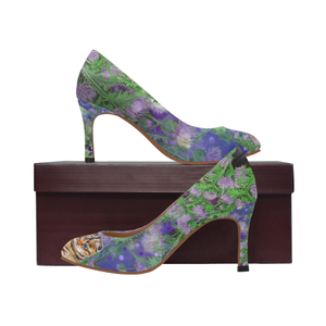 Scotland High Heel  - Scottish Fold Cat and Thistle | Special Custom Designs