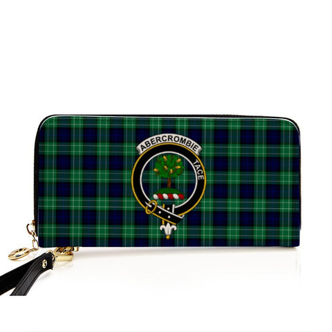 Image of ABERCROMBIE TARTAN CLAN BADGE ZIPPER WALLET HJ4