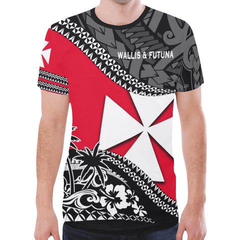 Wallis And Futuna T Shirt Fall In The Wave - For Man And Woman