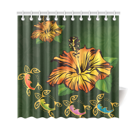 Image of Turtle shower curtain,turtle curtain,SHOWER CURTAIN,Sea turtle,HOME SET,Hibiscus curtain,Hibiscus,Hawaiian shower curtain,Hawaiian curtain,Hawaiian,Hawaii turtle,Hawaii shower curtain,Hawaii Hibiscus,Hawaii curtain,HAWAII