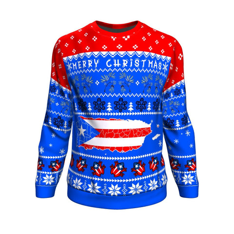 Puerto Rico Christmas Sweatshirt - Map
