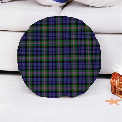 Baird Modern Tartan Throw Pillow Cover - Round K7