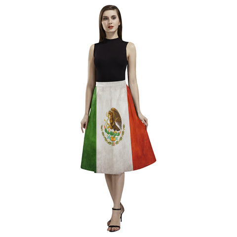 MEXICO FLAG AOEDE CREPE SKIRT A1
