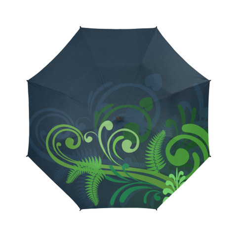 Special Edition of New Zealand Fern - Fern Semi-Automatic Foldable Umbrella