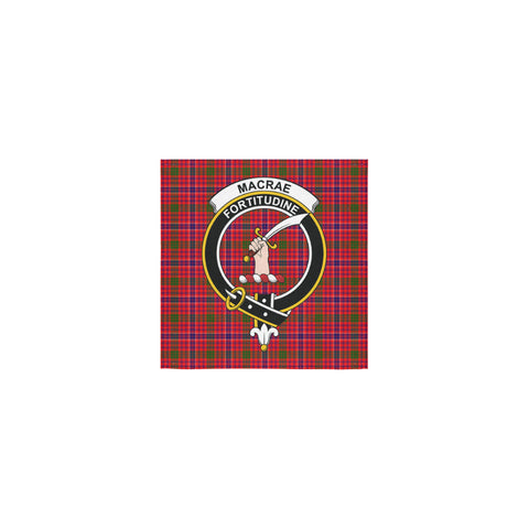 MacRae Modern Tartan Towel Clan Badge | 1sttheworld.com