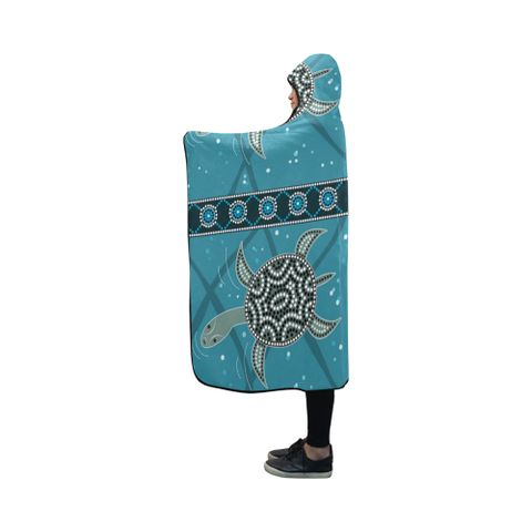 Image of Australia Aboriginal 11 Hooded Blanket H7 | Love The World