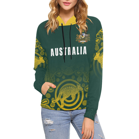 Image of Australia Hoodie Coat Of Arms - Rugby Style