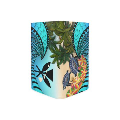 Image of Kanaka Maoli ( Hawaiian) Wallet Women - Polynesian Turtle Coconut Tree And Plumeria A24