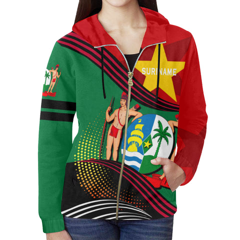 Suriname Zip Hoodie Fall In The Wave - For Women