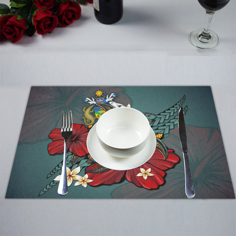 Image of Solomon Islands Placemat - Blue Turtle Tribal A02