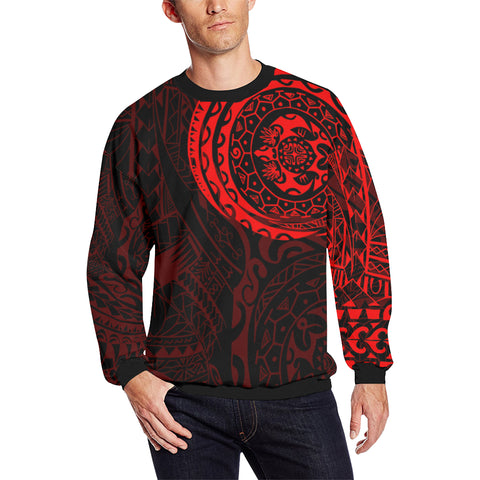 Polynesian Tattoo Style Sweatshirt - Red A7