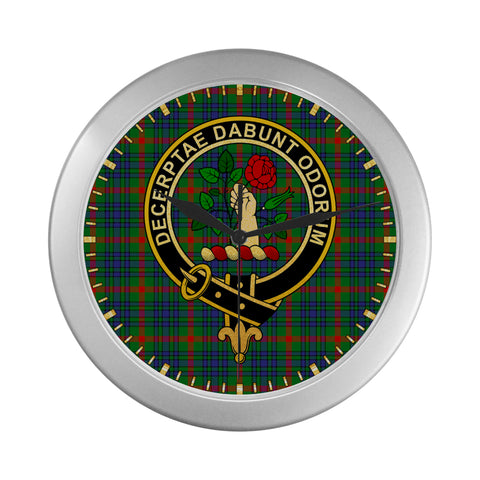 Image of AITON CLAN TARTAN WALL CLOCK A9