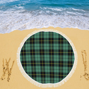 WALLACE HUNTING ANCIENT TARTAN BEACH BLANKET th8