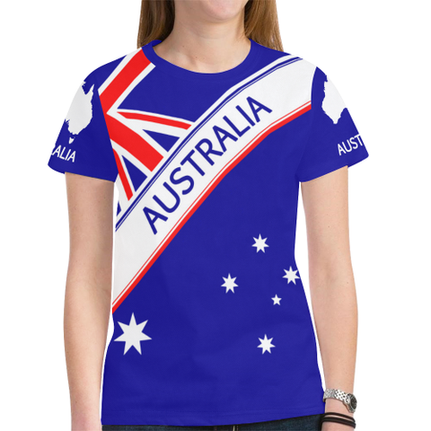 australia New All Over Print T-shirt Flag