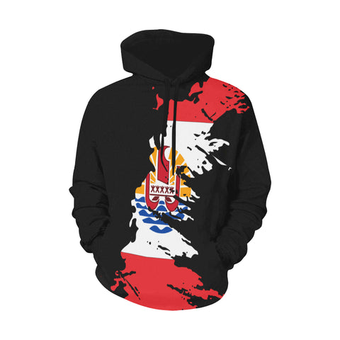 French Polynesian Hoodie Flag Painting Style