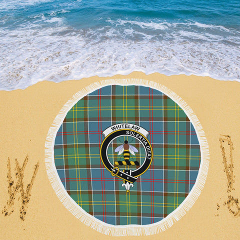 WHITELAW DISTRICT CLAN BADGE TARTAN BEACH BLANKET th8