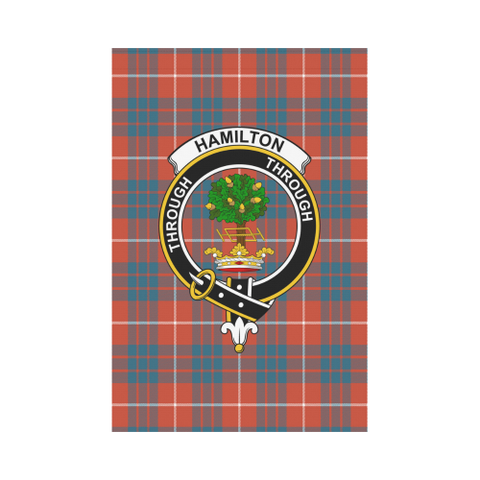 Hamilton Ancient Tartan Flag Clan Badge K7