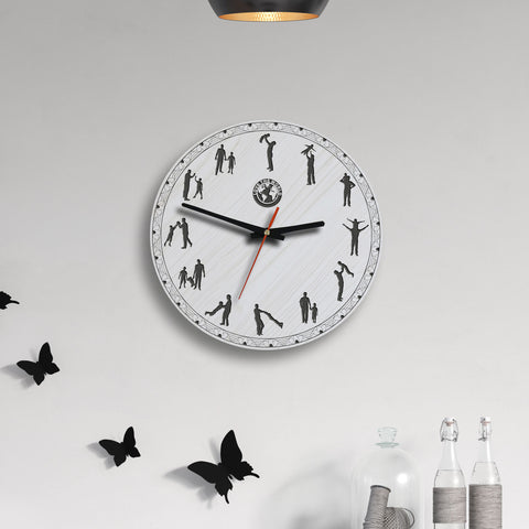 Father And Son Wooden Wall Clock