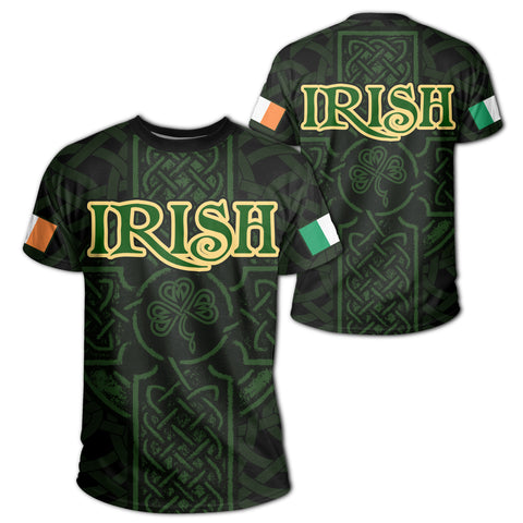 Image of Ireland T-shirt - Irish Celtic Cross | Clothing | 1sttheworld