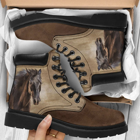 Horse All Season Boots - Bohemian Horse Boots - Brown Toe - BN14