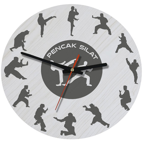 Pencak Silat Wooden Wall Clock J2