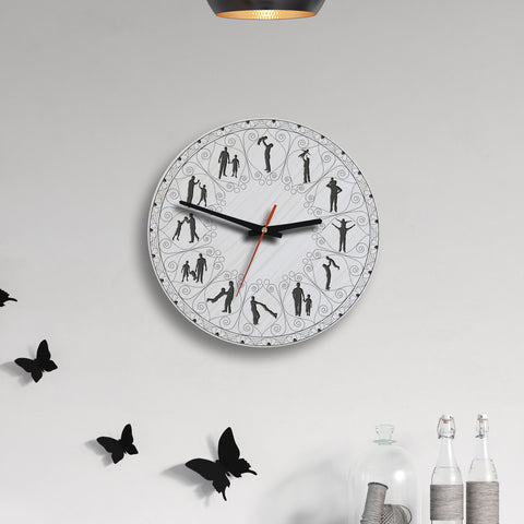 Father And Son Lovely Wooden Wall Clock