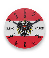 Austria Wall Clock - Hungari Language K2