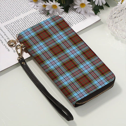 Image of ANDERSON ANCIENT TARTAN ZIPPER WALLET HJ4