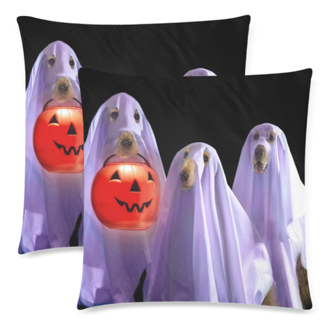 Image of Ghost Dog Halloween Pillow Covers K5