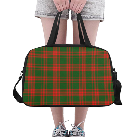 Image of Menzies Green Modern Tartan Fitness Bag | Sport Bags | Scotland Bag