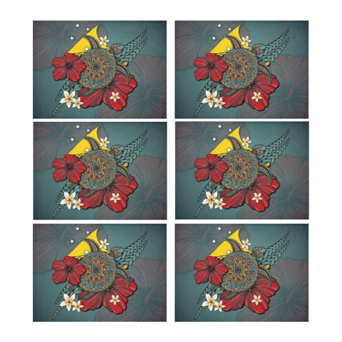 Tokelau Placemat - Blue Turtle Tribal A02