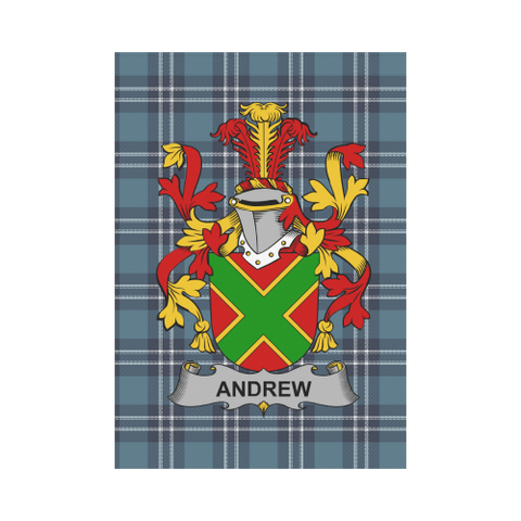 Andrew Tartan Flag Clan Badge K9
