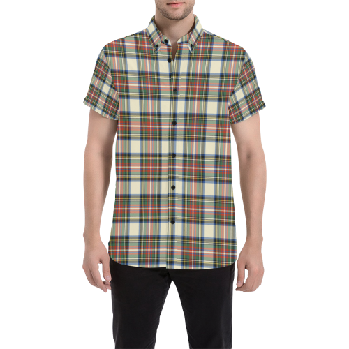 Stewart Dress Ancient Tartan Plaid Shirt | Online Shopping Scottish Tartan Mens Shirts