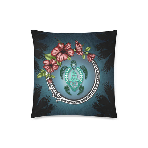 Kanaka Maoli (Hawaiian) Pillow Case - Polynesian Ohana Turtle Hibiscus | Love The World