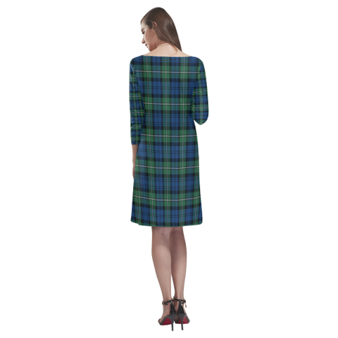Forbes Ancient Tartan Dress - Rhea Loose Round Neck Dress - BN