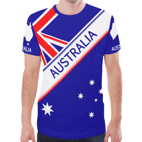 australia New All Over Print T-shirt Flag, sale, sale off