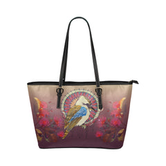 AUSTRALIA KOOKABURRA LEATHER TOTE BAG 01 H9