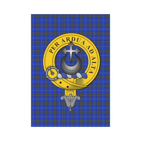 Hannah Tartan Flag Clan Badge K9 |Home Decor| 1sttheworld