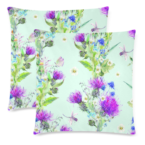 Thistle 17  Zippered Pillow Cases A1 | 1sttheworld.com