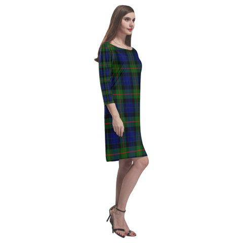 Gunn Modern Tartan Dress - Rhea Loose Round Neck Dress - BN
