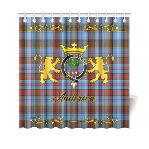 Tartan Shower Curtain - Anderson Clan | Scottish Home Set | Over 300 Clans