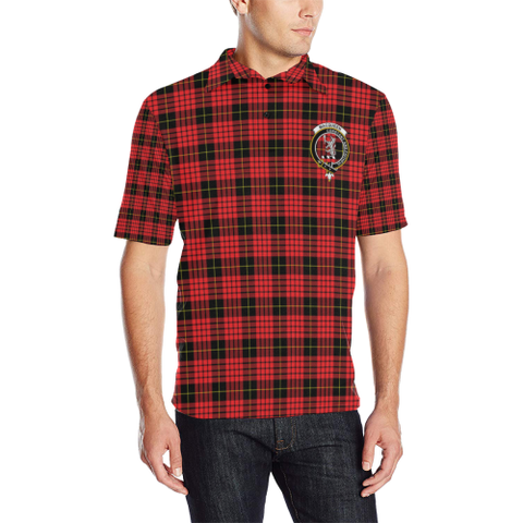 Macqueen Modern Tartan Clan Badge Polo Shirt HJ4