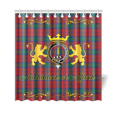 Image of Tartan Shower Curtain - Auchinleck or Affleck Clan | Scottish Home Set | Over 300 Clans